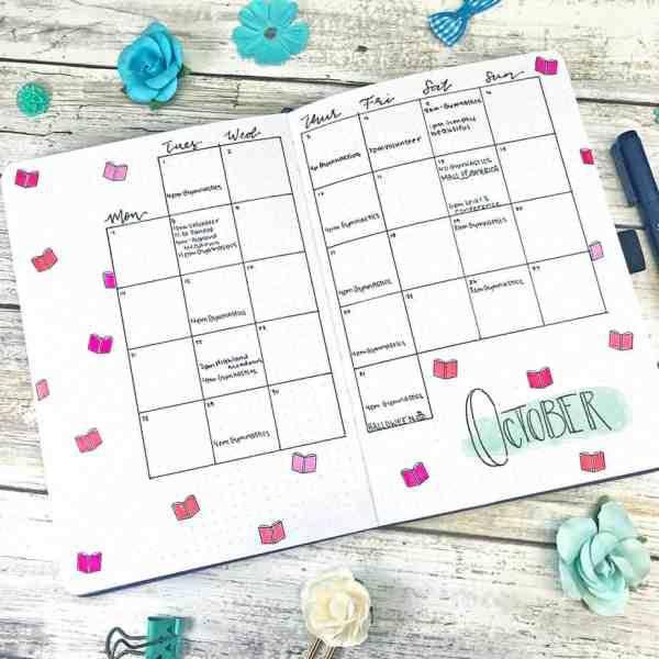 A&O Planner Bullet Journal calendar