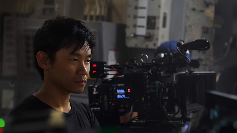 """O diretor James Wan no set de """"Aquaman"""""""