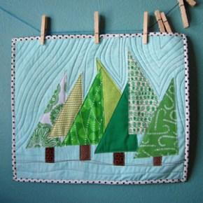 Happy Trees mini quilt