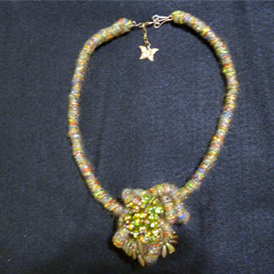 Fiber Wrapped Necklace