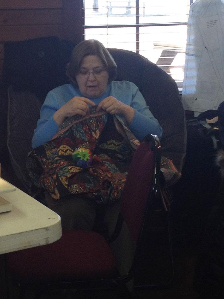 Bonnie Dearing in her big chair