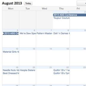 August Group Schedule Online