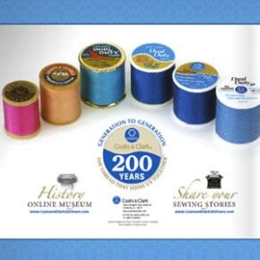 Coats and Clark thread through the years