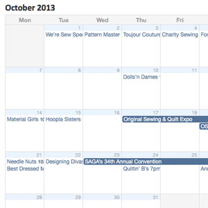 October Group Schedule Online