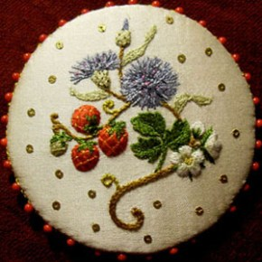 Hand embroidery classes by Susan O'Connor