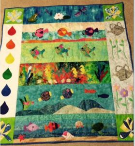 Sandie's winning quilt