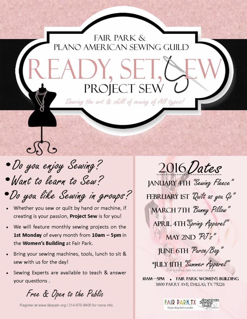 Project Sew Flyer 2016