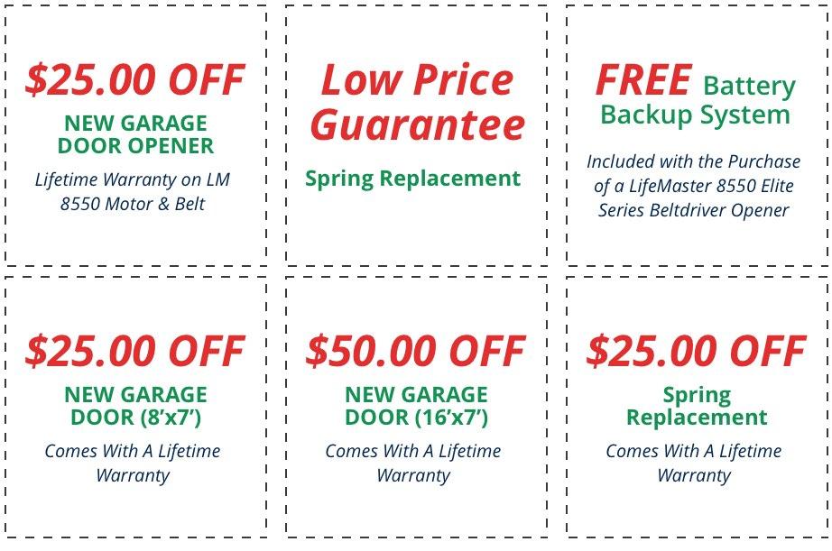 We Offer Garage Door Coupons in Plano TX