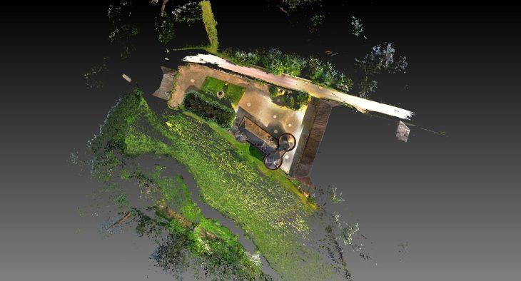 Implantation du chateau dans son environnement.