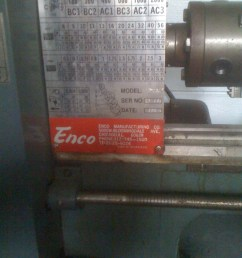 this lathe didn t come with a manual and i wasn t able to find one on the internet i called enco and they sent me a photo copy i scanned it to pdf  [ 1200 x 1600 Pixel ]