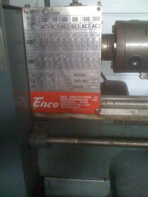 small resolution of this lathe didn t come with a manual and i wasn t able to find one on the internet i called enco and they sent me a photo copy i scanned it to pdf