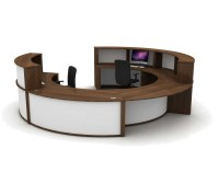 Mobili Circular Reception Counter