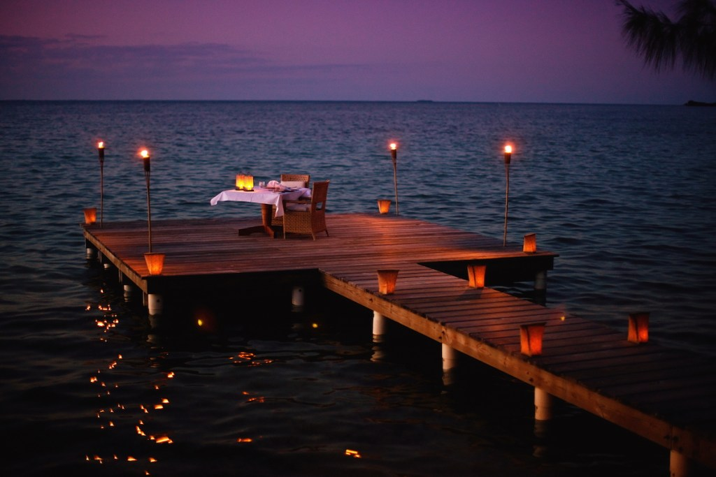 Cayo Espanto, Belize - Sunset Dinner