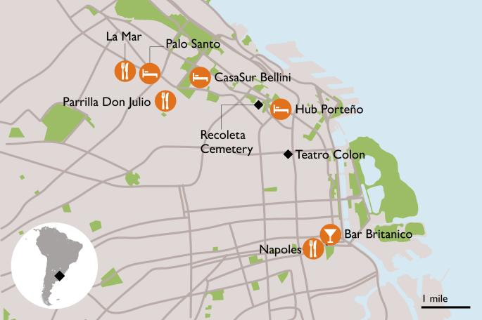 Buenos Aires map, Sunday Times