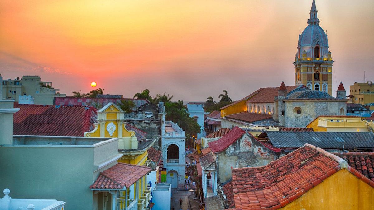 Cartagena Rooftops at Sunset