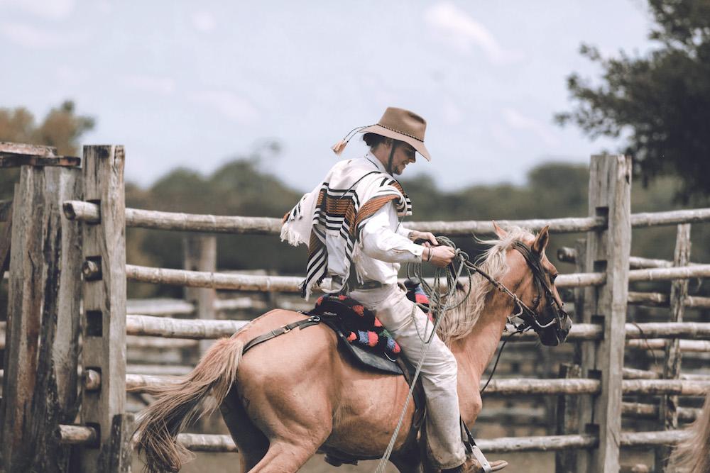 Llanero cowboy, riding, Colombia   Plan South America