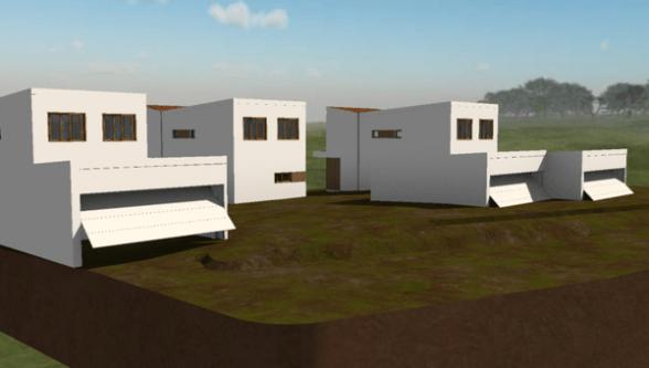 3 vivendas unifamiliares en hilera