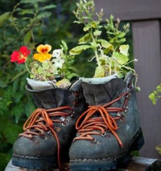 Convierte tus botas en macetas