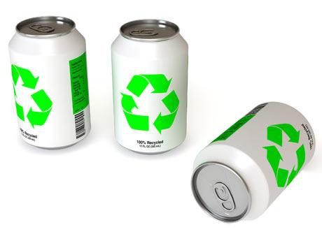 Macetas hechas de latas