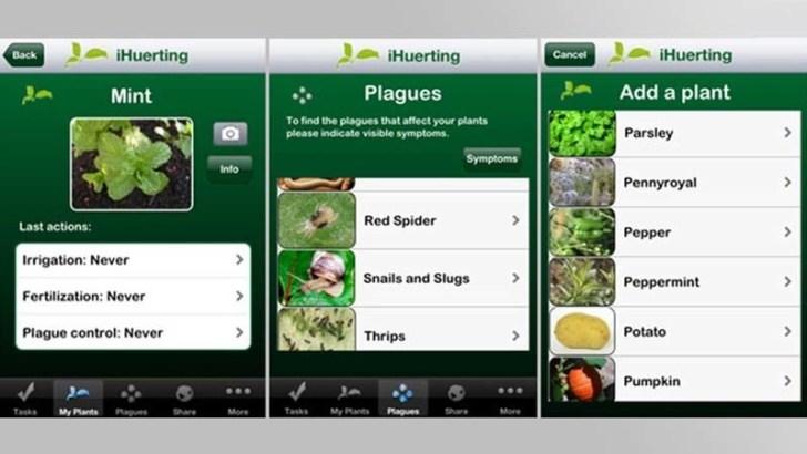 3 aplicaciones relacionadas con las plantas