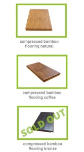 samples of plantation bamboo compressed flooring