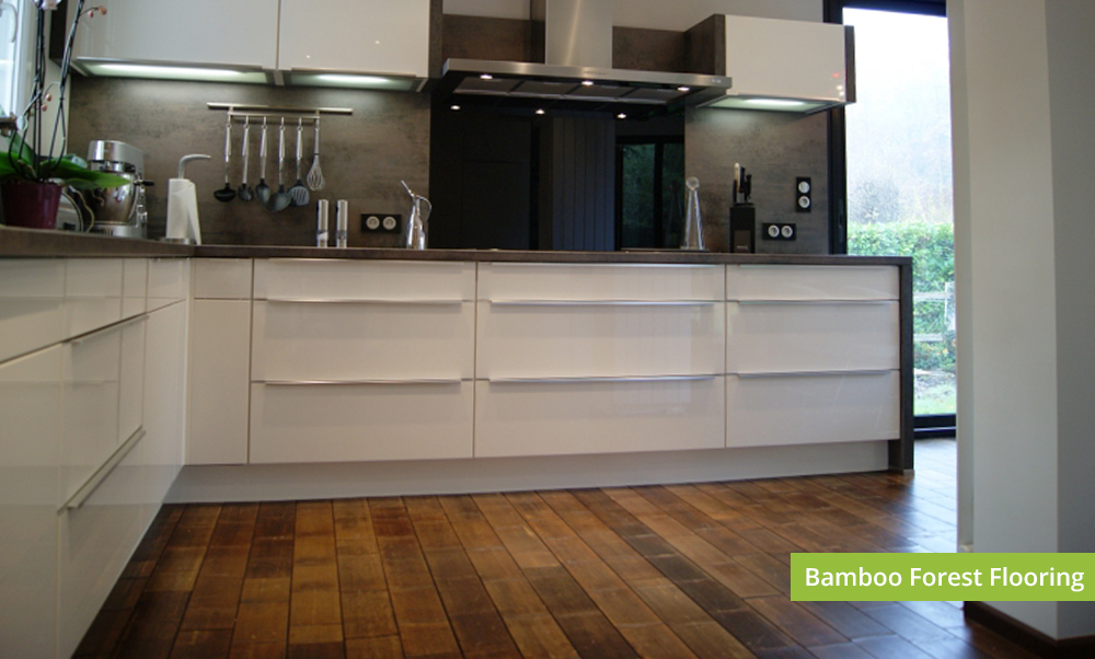 Plantation Bamboo Forest Flooring Product installed in a New Zealand house interior, kitchen