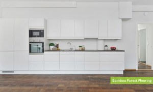 Plantation Bamboo Forest Flooring Product installed in a New Zealand house kitchen interior