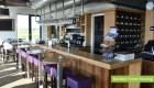 Plantation Bamboo Forest Flooring Product installed in a modern restaurant and bar