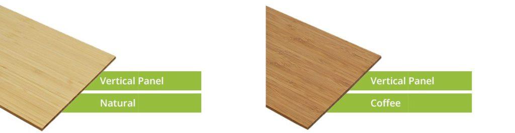 Vertical bamboo panels samples
