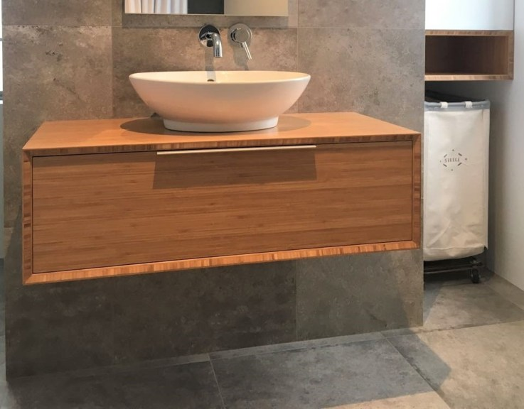 bamboo ply panels - bathroom cabinetry