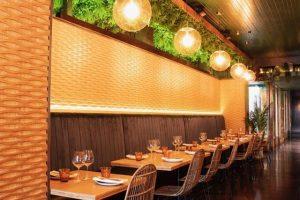 bamboo panels used in wellington bar Lulu