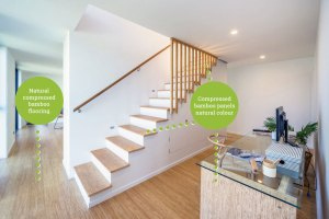 bamboo ply panels - bamboo stair treads and compressed bamboo flooring - natural