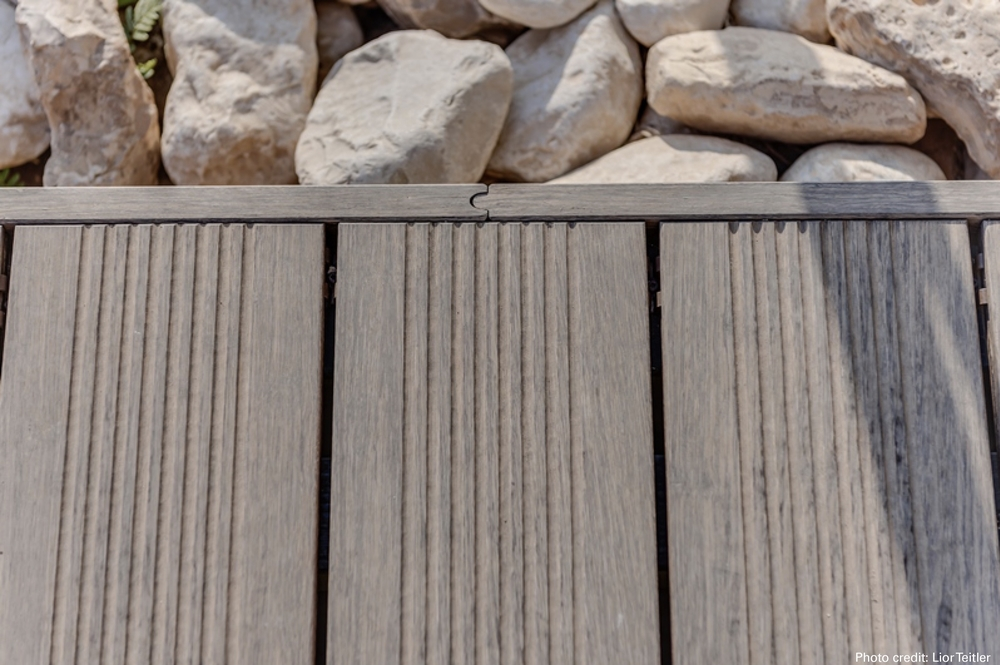 Close up shot of bamboo x-treme decking