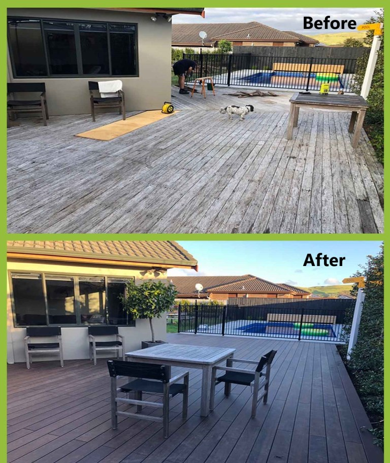 Bamboo deck transformation