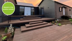 Durable bamboo decking
