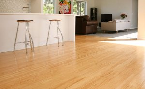 Compressed Bamboo flooring in kitchen