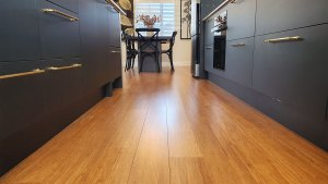 Bamboo Flooring used in kitchen design