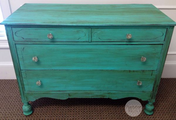 Painted Distressed Turquoise Furniture
