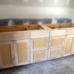 Unfinished Kitchen Wall Cabinets Stainless Table Master And Shared Bathroom Custom Flip 1