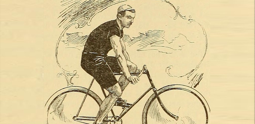 man tired on a bicycle