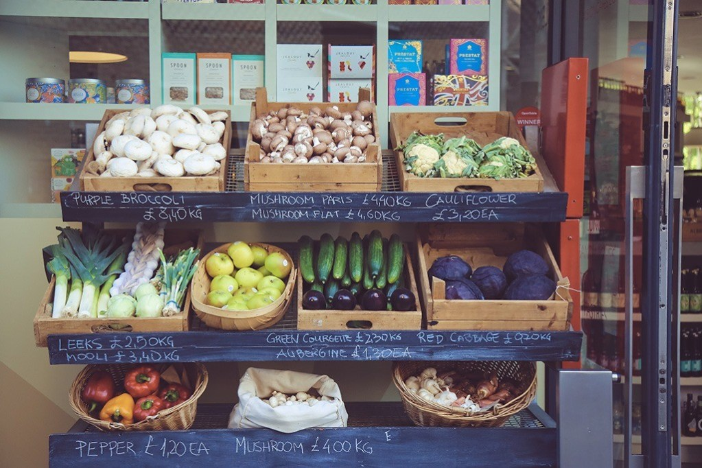 Vegetables at stand.
