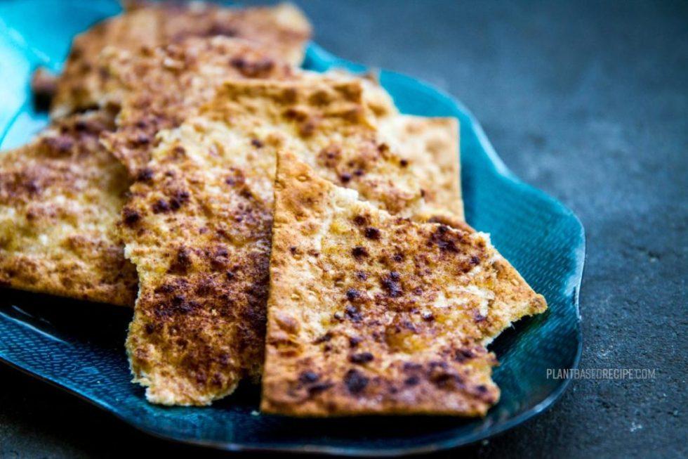 Sweet Cinnamon flatbread on a plate