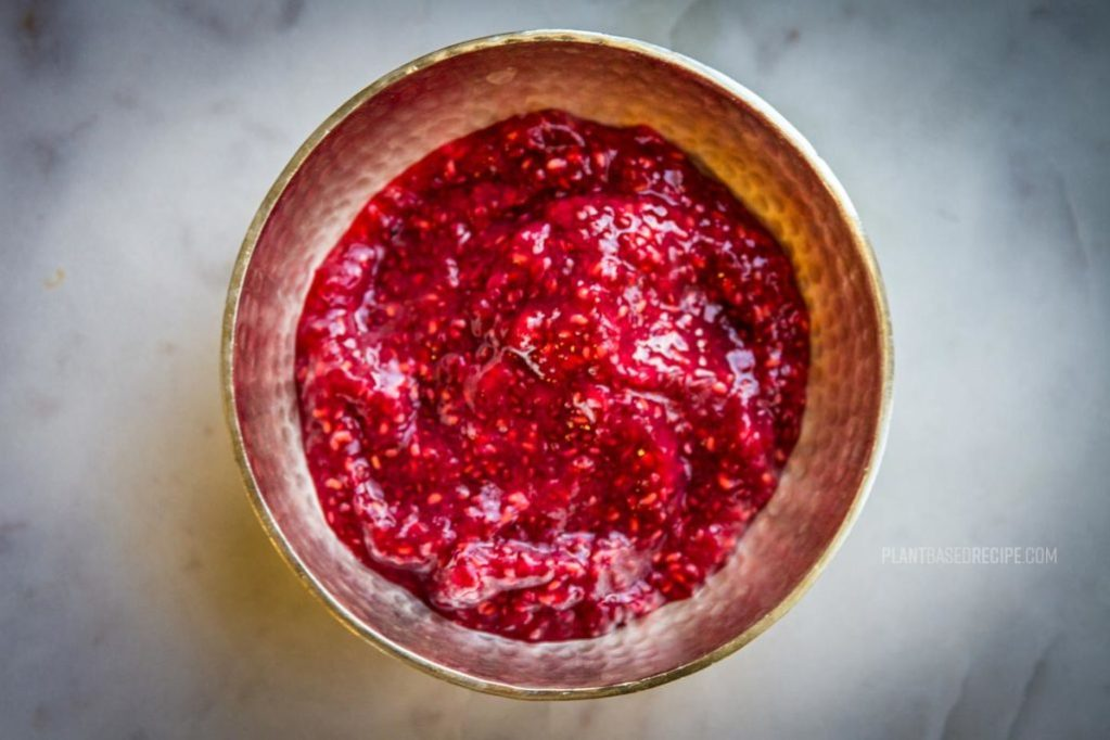 Overnight chia Raspberry jam recipe image