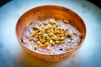 Blueberry Vanilla Oatmeal in a bowl