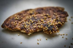 Tamarind ginger flatbread, toasted.
