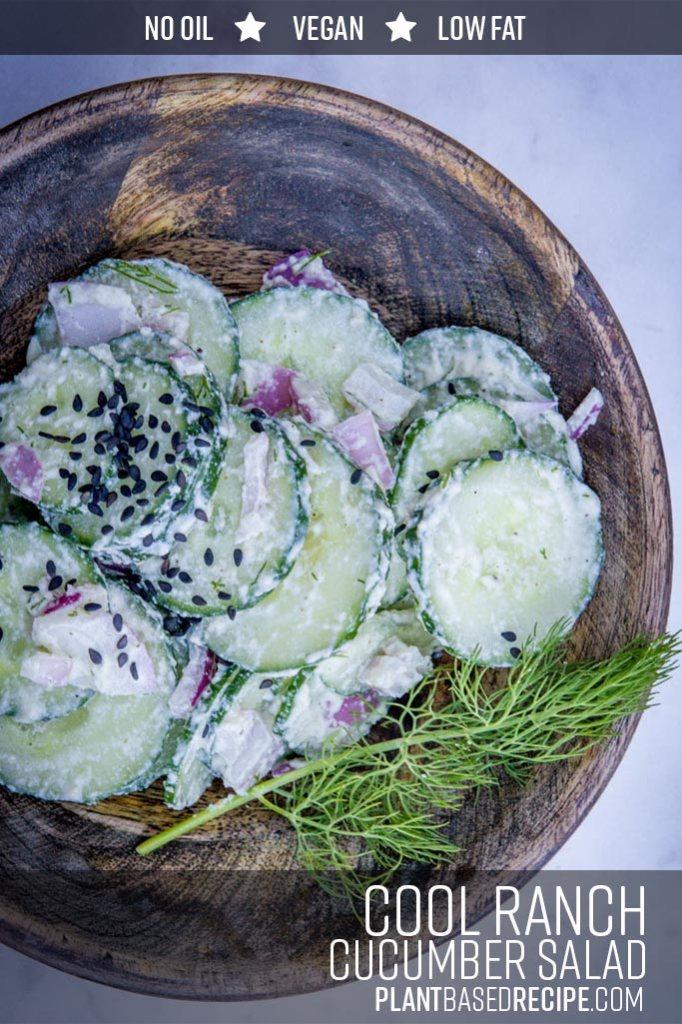 Cool Ranch dressed cucumber salad