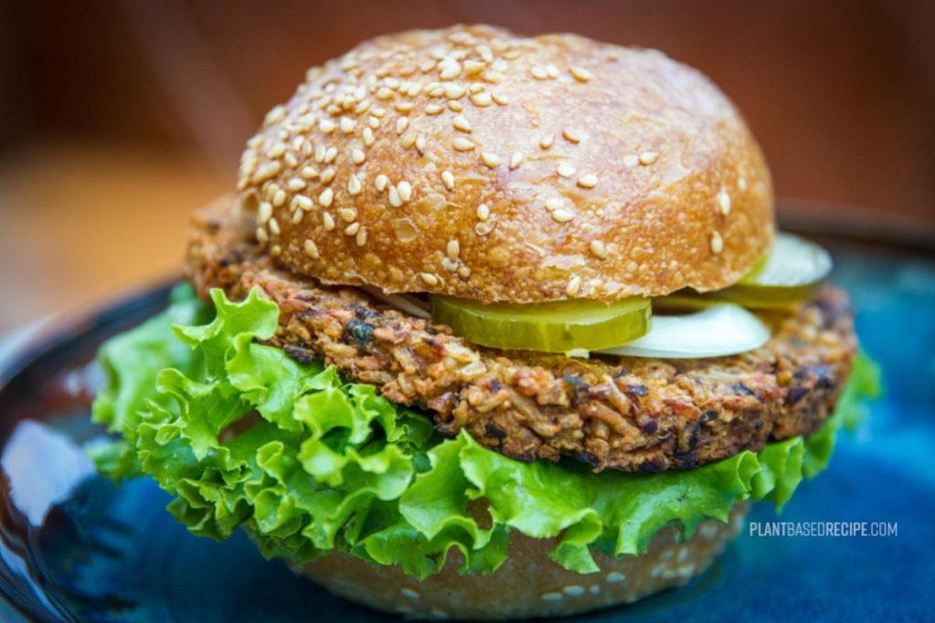 Bean and Rice vegan burger patty