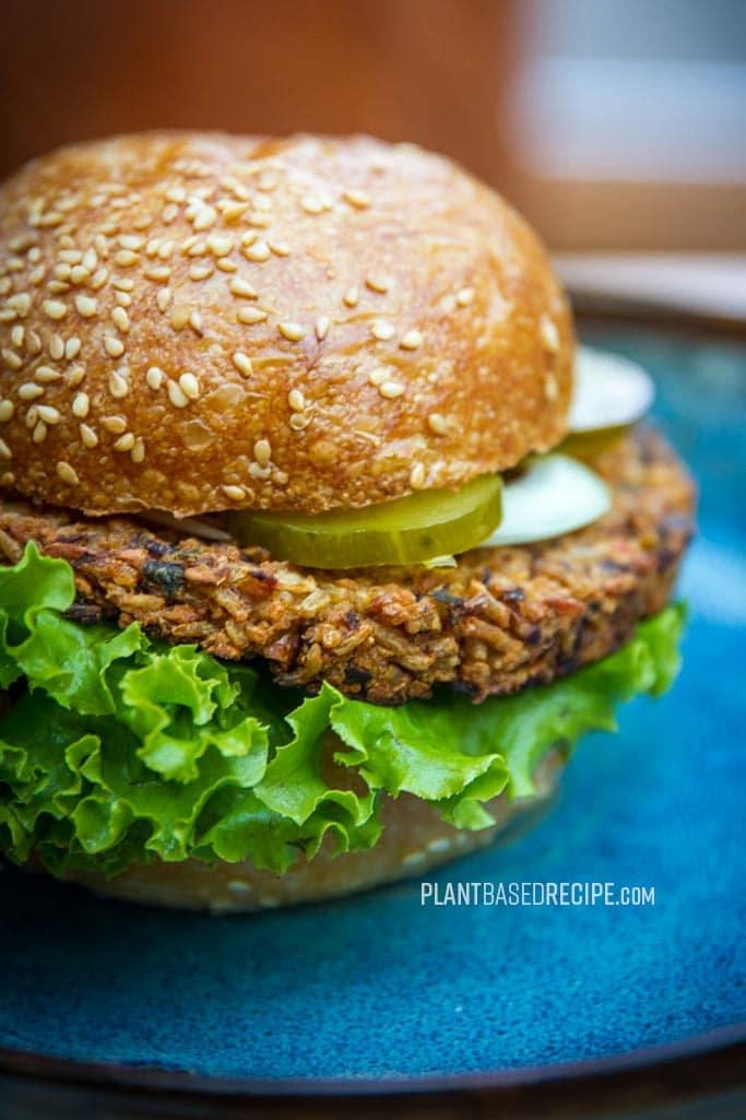 Better Bean & Beet Burger Patty… and rice too (Low fat, vegan, no oil)