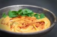 Low fat Spicy Thai Peanut Noodle Soup