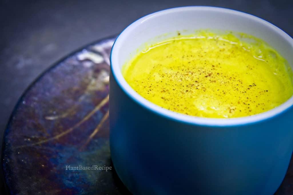 Golden milk with ginger recipe.